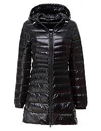 HengJia Women's Hooded Packable Down Puffer Coat Lightweight Down Winter Jacket