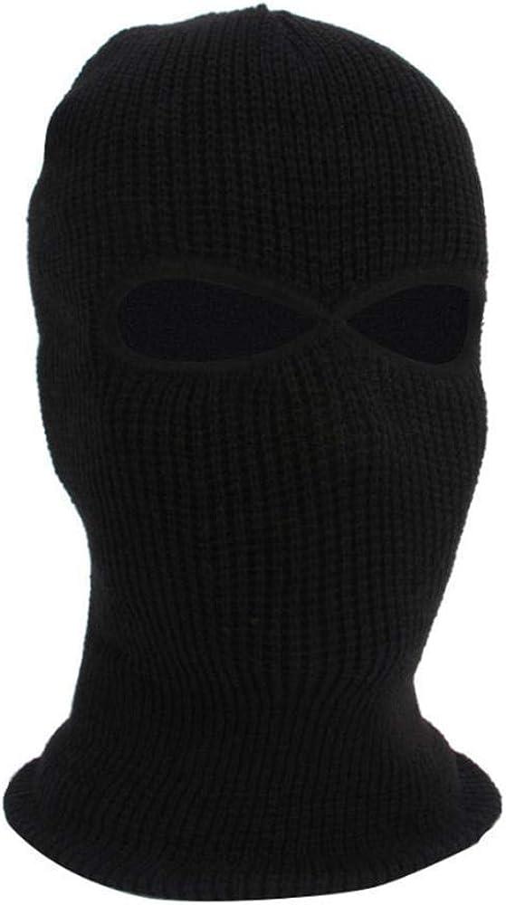 Amazon.com: Knit - Gorro de esquí con 2 agujeros, para la ...