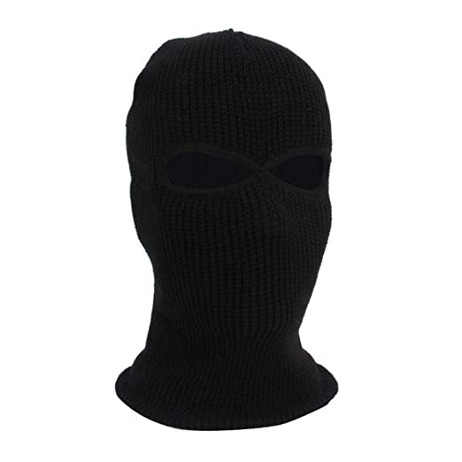 Image Unavailable. Image not available for. Color  Knit 2 Hole Ski Mask Hat  Full Face Shield Beanie Cap Warm Snow Winter ... 392cc5eabd97