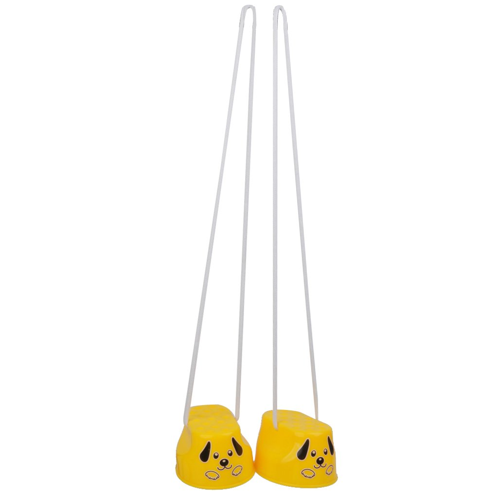1Par Juguete de Entrenamiento Equilibrio de en Forma de Ejercicios Zancos Sonrisa Amarilla