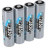 ANSMANN AA Rechargeable Batteries 2850mAh high-capacity high-rate rechargeable NiMH AA Batteries for flashlight, camera, radio etc. (4-Pack) (5035092 VE12)