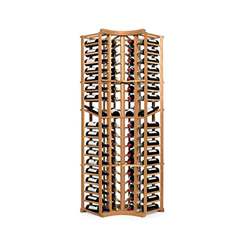 N'FINITY Wine Rack Kit - 4 Column Curved Corner with Display - Natural Finish - S by N'FINITY