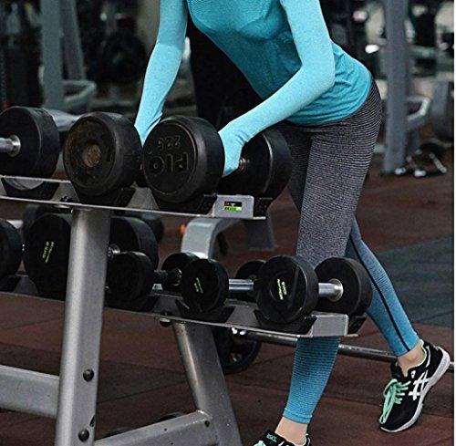 Tongshi Mujeres Running Yoga Sports Fitness Gym Stretch Pantalones Pantalones Ejercicio Leggings Azul