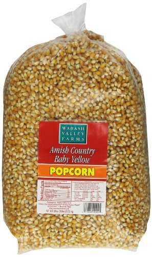 Wabash Valley Farms Gourmet Popping Corn, Baby Yellow, 6-Pound Bags (Pack of 3) ()