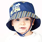 Melondipity Boys Navy Blue Woody Baby Sun Hat -High Quality Bucket Cap for Beach