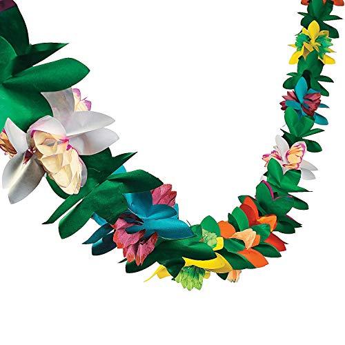 Fun Express Tissue Flower Garland (2-Pack) 9 ft. x 3