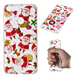 Christmas Case for Huawei P Smart,Gostyle Santa Claus Pattern Clear Soft Silicone Case,Ultra Thin Lightweight Transparent Flexible TPU Bumper Back Cover for Huawei P Smart