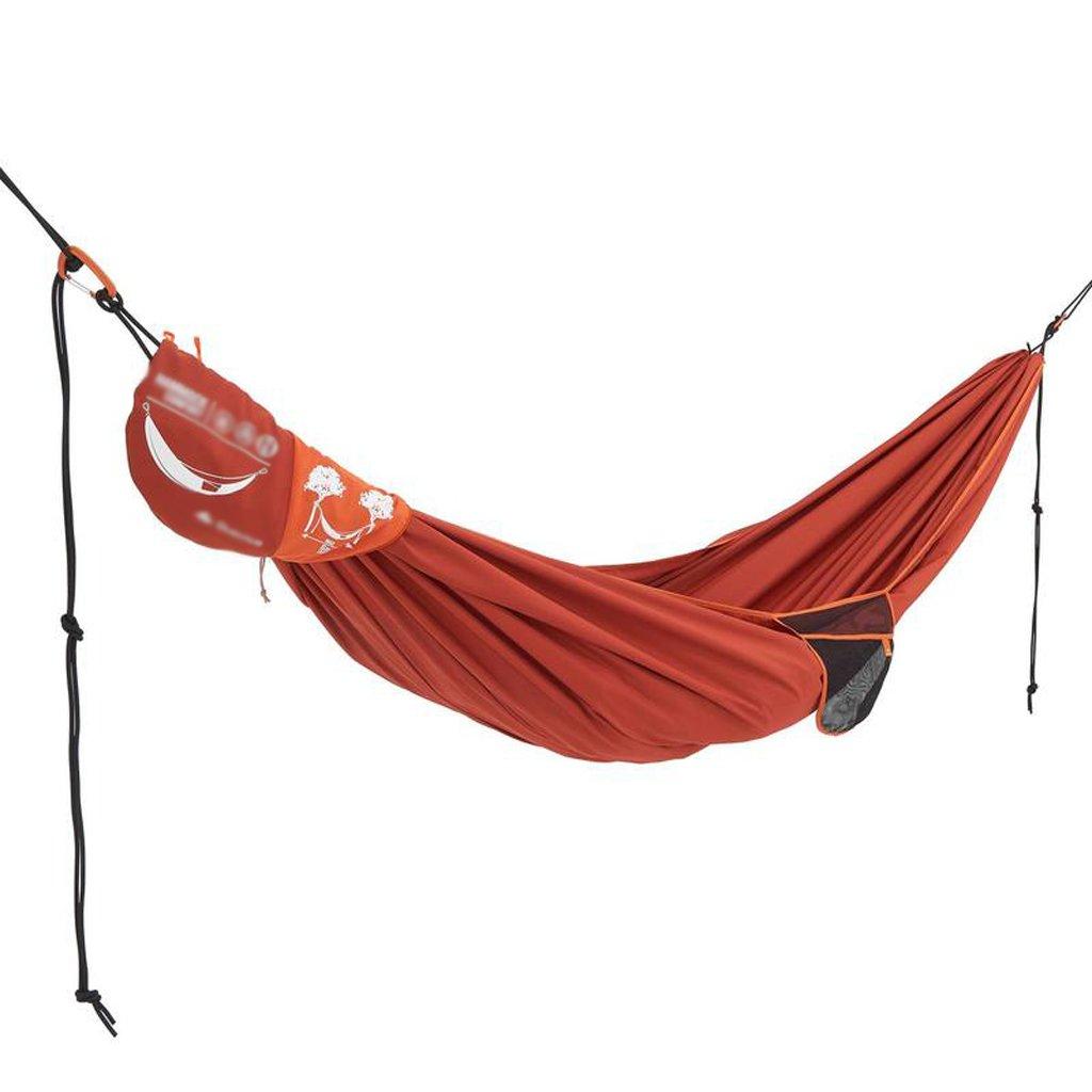Hängematten Wddwarmhome Tragbare Doppel Polyester Erwachsenen Kind Outdoor Camping Anti Rollover Hammoc (280  170 cm) (Farbe : Orange)