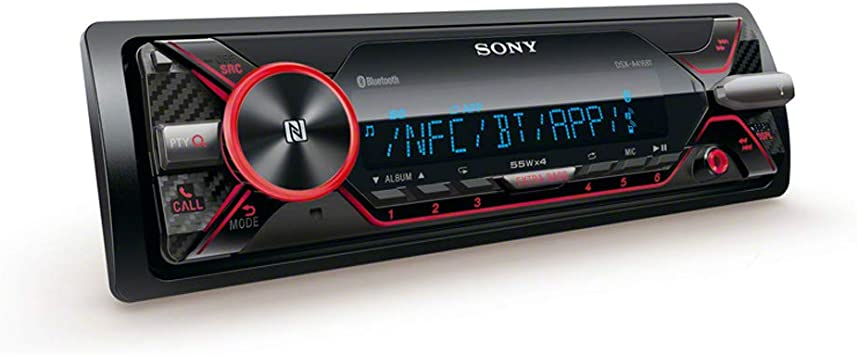 Sony Dsx A416bt Car Radio With Dual Bluetooth Nfc Usb Aux Connection 35 000 Colours Vario Colour Hands Free Calling And Microphone Navigation Car Hifi