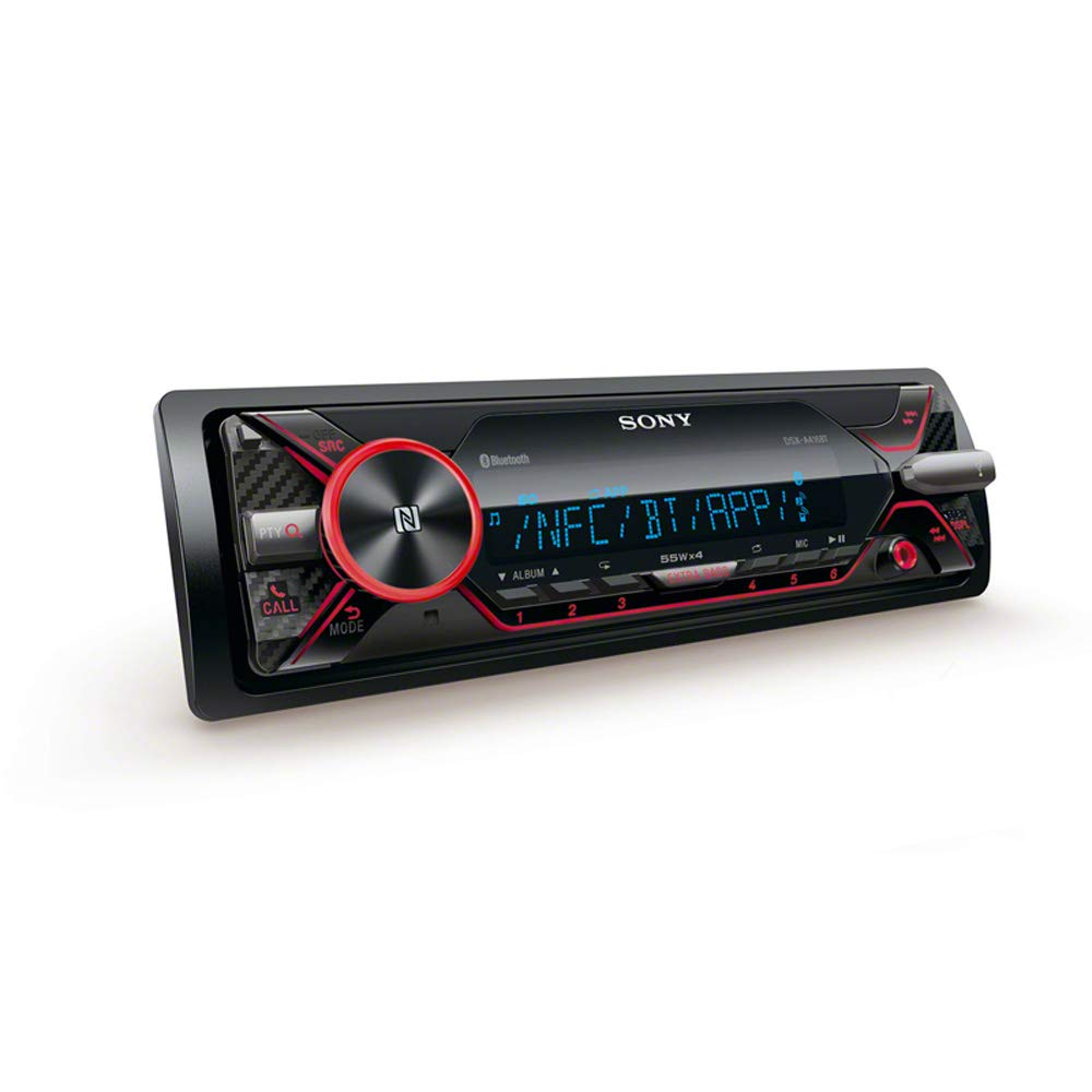 Sony DSX-A416BT Car radio With Dual Bluetooth, NFC, USB and AUX connection and Apple iPod/ iPhone Control, 35000 Colours and Handsfree - Multi-Colour