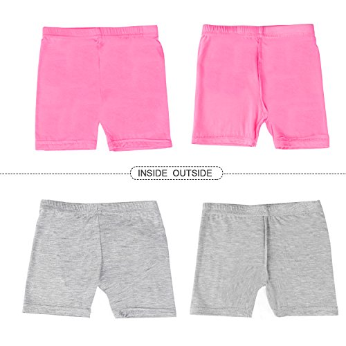 BOOPH Girls Dance Short, 5 Pack Assorted Color Bike Shorts for Girls 5-7 Year Old by BOOPH (Image #4)