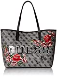 GUESS Vikky Tote Bkf, Black Floral