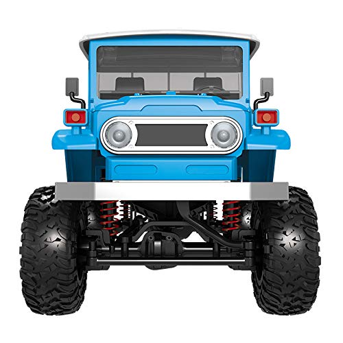 Hatop- Off-Road Military Truck Rock Crawler Front Led Light 1:12 4wd RC Car ABS Metal Remote Control Car for Toddler Boys