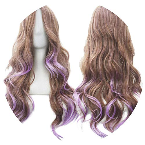 Wavy Women Wig High Temperature Fiber Synthetic Hairpiece Long Ombre Cosplay -