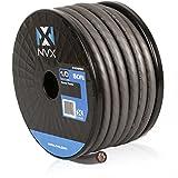 NVX 50 ft. Roll of 1/0-Gauge Metallic Gray EnvyFlex True Spec 100% Oxygen Free Copper (OFC) Power/Ground Wire Cable [XW0GR50]