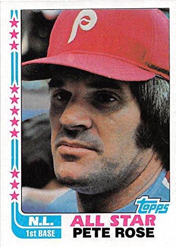 Pete Rose baseball card (Philadelphia Phillies World Series Champion) 1982 Topps #337 All Star