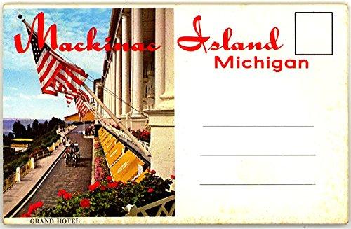Mackinac Island Michigan & Grand Hotel (1950's Souvenir Postcard Folder)