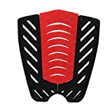 DYNWAVE 3pcs/Set Tail Traction Grip Pads for Surfboard Shortboard Longboard BlackRed