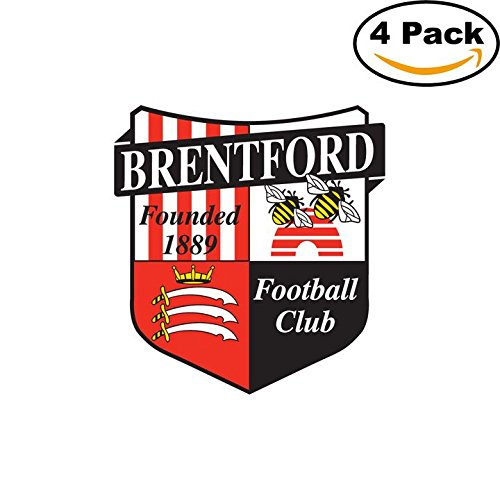 fan products of Brentford FC Soccer Football FC Decal Logo 4 Stickers 4X4