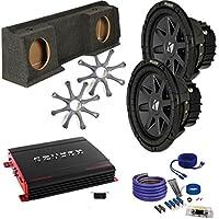 Kicker for GMC 99-06 Sierra CVR102 10 Truck Bundle, Crunch PX2000.1D 2000 Watt Max Mono Amplifier, Enclosure, Wire Kit