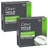 #7: Dove Men+Care Body and Face Bar, Extra Fresh, 4 Ounce, 20 Bar