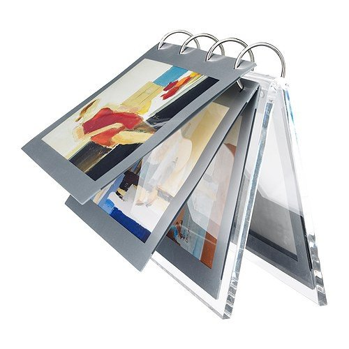 IKEA FINLIR Bilderhalter in transparent; (15x10cm)