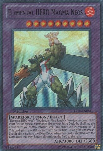 Yu-Gi-Oh! - Elemental HERO Magma Neos (LCGX-EN064) - Legendary Collection 2 - Unlimited Edition - Super Rare
