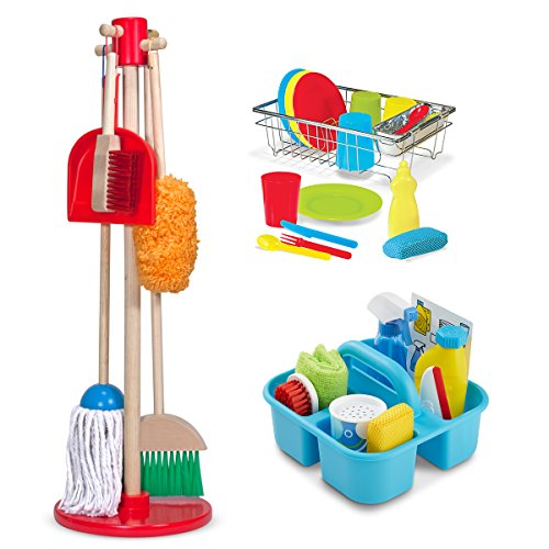 Dust Sweep Mop, Spray Squirt Squeegee, Wash and Dry Dish Set