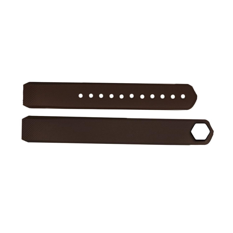 SODIAL ( R )ラグジュアリー交換シリコン腕時計バンドストラップfor Fitbit ALTA Watchリストバンドカラーブラウン  B01M0F4CLL