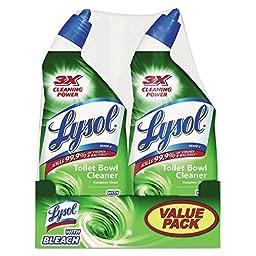 Lysol REC80078 Disinfectant Bathroom Cleaner With Bleach, Liquid, 24oz, 6/carton