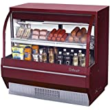 Turbo Air (TCDD-48-2-L) - 48 Curved Glass Low Profile Refrigerated Bakery/Deli Case- Restaurant Equipment