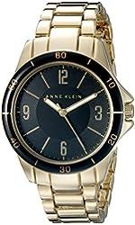 Anne Klein Women's AK/2058BKGB Gold-Tone Bracelet Watch