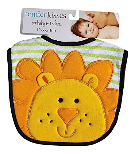 Tender Kisses Infant Embroidered Bib Lion