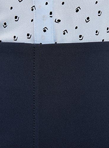 Dcoratives Poches 7900n Jupe Bleu oodji Femme avec Trapze Ultra 4wBPqY1