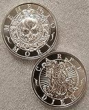 Latin Allure Memento Mori Carpe Diem 2 oz 39mm .999 Silver Skull New Horsemen