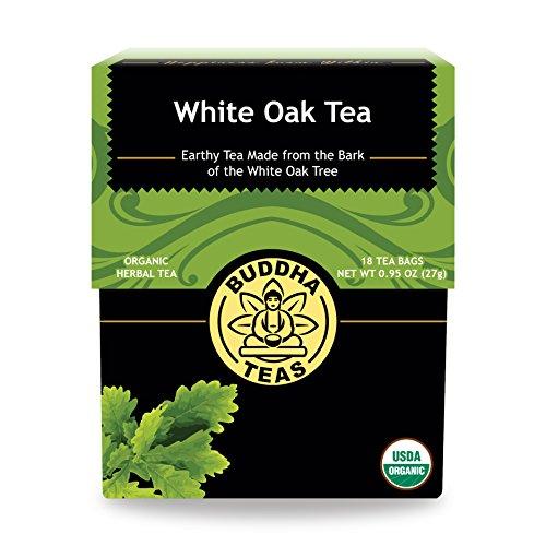 Organic White Oak Bark Tea - Kosher, Caffeine Free, GMO-Free - 18 Bleach Free Tea Bags