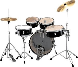 rt705hc 5pc rhythm traveler drum set jet black musical instruments. Black Bedroom Furniture Sets. Home Design Ideas