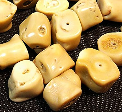 5Italiano Natural Perlas de Coral Color Blanco Piedra Preciosa Piedra Natural Forma Natural para Joyas Cadena Manualidades Coral Beads G621