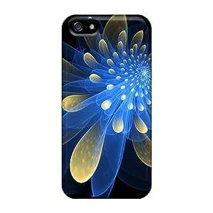 New Premium Flip Case Cover Fractalchrysanthemum Skin Case For Iphone 5/5s