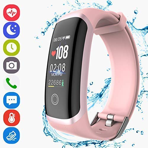 Fitness Tracker Activity Smart Bracelet Wristband with Pedometer Heart Rate Monitor Step Calorie Distance Tracker IP67 Waterproof Call SMS SNS Remind for Men Women Kids Compatible with Android iOS