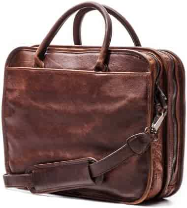 Moore and Giles Miller Leather Standard Attaché - Titan Milled Brown