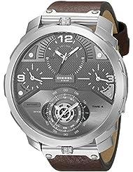 Diesel Mens DZ7360 Machinus Stainless Steel Brown Leather Watch