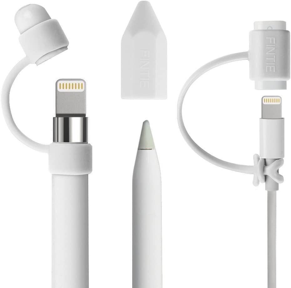 Cable Adapter Tether For Apple Pencil Cap Holder Nib Cover