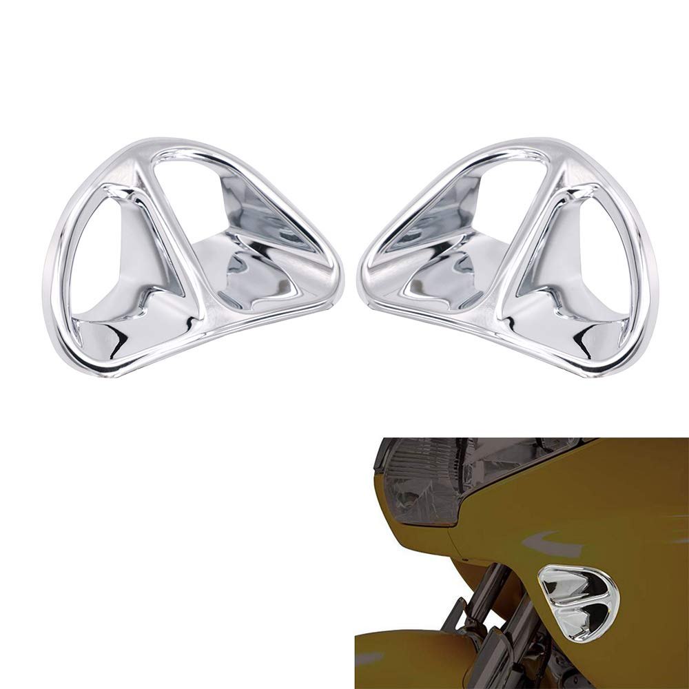 Chrome Fairing Air Intake Accents Grilles For Honda Goldwing GL1800 2001-2010 2002 2003 2004 2005 2006 2007 2008 2009