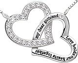"""ALOV Sterling Silver """"my dear girlfriend love holds"""