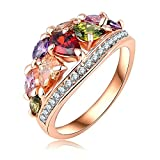 Gnzoe Jewelry Rose Gold Plated Rings Women Wedding Bands Rose Gold US Size 5.5