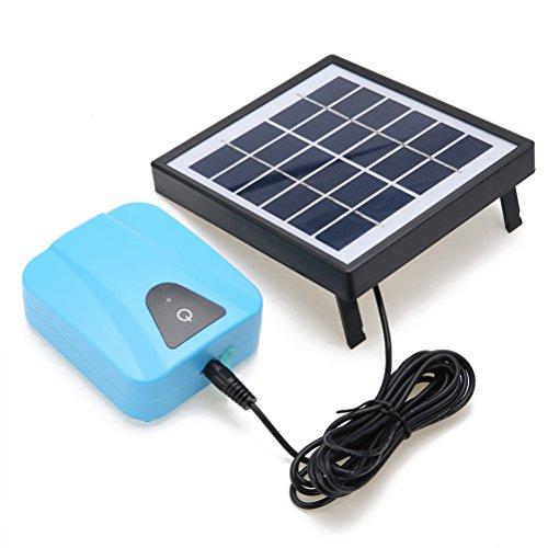 Amazon.com: NICERIO Solar Charging Moving Air Bubble Aerator Aquarium Fish Tank Pond Pump Hydroponic Oxygen (Blue): Home Improvement