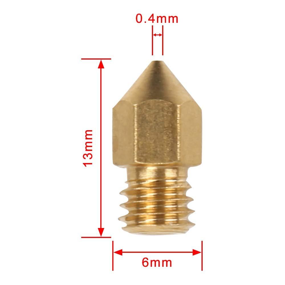 Cr-10,10S Gaoominy 3D Coperchio del Silicone per Blocco Stampante Mk7 // Mk8 // Mk9 Hotend per Ender 3 S5 Anet A8 e Ugello per Estrusione 0.4Mm Stampa per Mk8 Makerbot Ender 3 PRO S4
