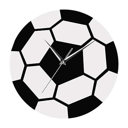 Steaean Despertador Creativo fútbol fútbol Reloj de Pared ...