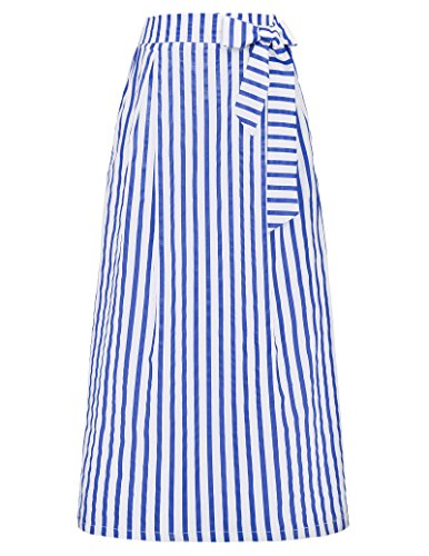 Womens Length Vertical Striped Skirts